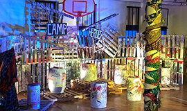 Camp Heroes performance space in the Gymnasium at the Family Ministry Center